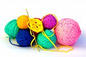 Recycled Crochet Balls And Hook