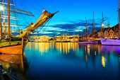 stock photo of tall ship  - Sailing ships in the harbour during the tall ships races Bergen Norway - JPG