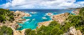 Beautiful Ocean Coastline Panorama In Costa Paradiso, Sardinia