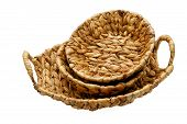 Wattled Basket Isolated On A White Background