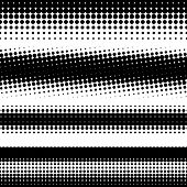 abstract  black halftone design elements