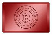 Red Bitcoin Metal Texture