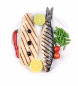pic of pangasius  - Grilled seabass with pangasius fillet - JPG