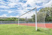 Soccer Goal In Field