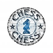 Chess grunge rubber stamp