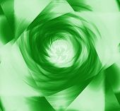 Soft green spiral burst light background