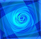 Twist Abstract blue background