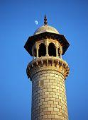 Taj Mahal Corner turret, India.