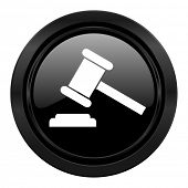 auction black icon court sign verdict symbol