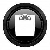 weight black icon