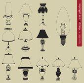 Vintage table lamp set