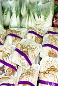Mix Mushrooms With Pack In Market.