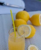 Real Lemonade Represents Refreshing Summertime And Juice