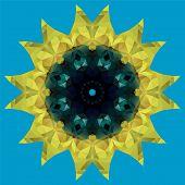 sunflower crystal illustration