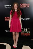 NEW YORK-AUG 26: Actress Emma Kenney attends the New York premiere of 'One Direction: This Is Us' at the Ziegfeld Theater on August 26, 2013 in New York City.