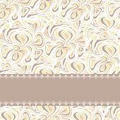 Beige pattern with stripe
