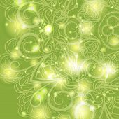 Floral pattern with lights