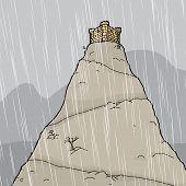 Castle In Thunderstorm