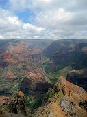 Scene Of Waimea Canyon On Kauai