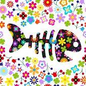 Fish Flower Background