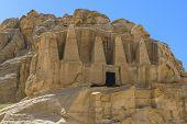 Rock Cut Tombs At Petra