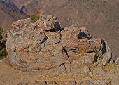 Rock above canyon