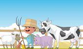 Farmer And Animals