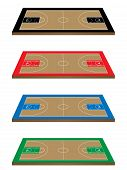 Basketball Courts 3D Perspective