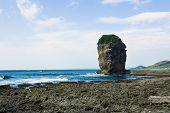 Coral reef rock cape