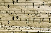 stock photo of musicial  - The old musical notebook - JPG