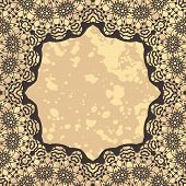 Stylized elegant islamic template design in henna background