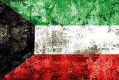 Kuwaiti flag painted on steel wall