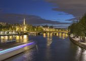 pic of bonaparte  - Long exposure of Paris from Pont Neuf with Eiffel Tower in background - JPG