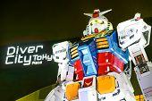 Gundam Model Rx-78-2 At Gundam Front Tokyo, Japan