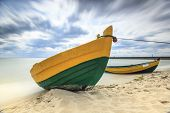 Wooden Boat On The Baltic Shore.