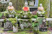 Jizo Statues In Okunoin Cemetery At Koya-san, Japan