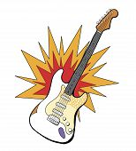 Band Electric Guitar Illustration