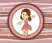 Cute Little Ballerina Girl Label Card