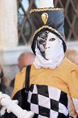 Carnival Costume Like A Bishop Piece Of Chess At The Carnival Of Venice