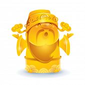 Chinese God of Wealth - Golden. Translation of text: Wealth