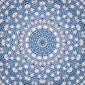Pattern Of Blue And White Closeup Cotton Cloth Pattern