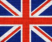 Great Britain Flag Burlap Rustic Jute