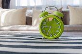 Modern Green Alarm Clock In Bedroom