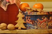 Gingerbread For Christmas. Honey And Molds For Cakes And Walnuts.
