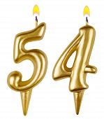 Birthday Candles Number Fifty Four