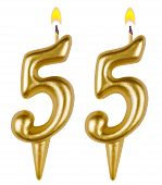Birthday Candles Number Fifty Five
