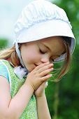 Amish Or Mennonite Child Praying
