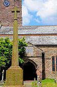 Memorial and church, Weobley.