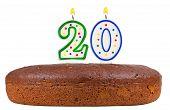 Birthday Cake With Candles Number Twenty