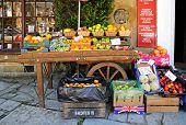 Fruit and veg display, Broadway.